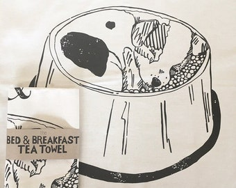 Bed & Breakfast Tea Towel