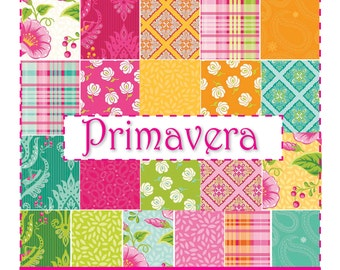 Primavera Fat Quarters Bundle includes 21 fat Quarters by Patty Young for Riley Blake Designs