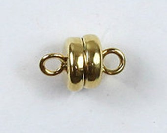 1 St. Kleiner power magnetic clasp gold plated 6 mm