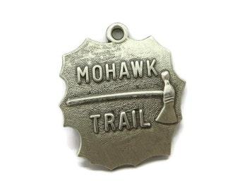 Sterling Silver Charm - Vintage Mohawk Trail Charm, Travel Charm, Pendant, Gift idea