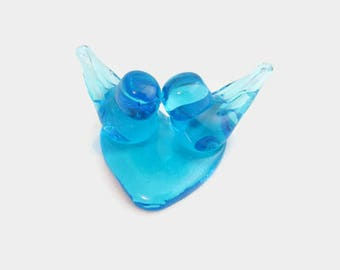 Vintage Glass Bluebirds - Lovebirds