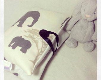 Elephants Nappy Diaper and wipe purse bag