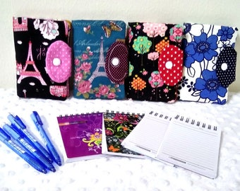 Mini Notebook Cover, Cotton Notebook cover, Mini Organizer, Notebook Accesories