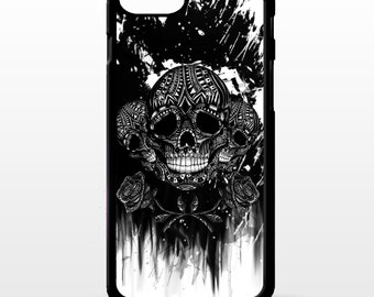 Sugar skull and cross bones gothic rose print pattern tatttoo art cover for sony xperia Z2 Z3 Z5 comapct Htc one m9 Lg G3 phone case