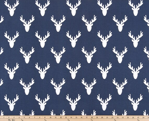 home decor fabric online canada premier prints fabric antlers vintage indigo home decor 12232
