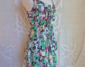 Silk Floral Tiered Dress