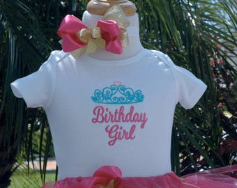 1st birthday girl,baby's first birthday outfit ,pink tutu,one year old,hand cut sewn at the waist available in all colors,includes bow