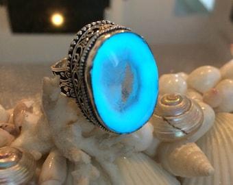 Mermaid Queen Quartz Sterling silver ring