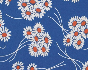 Katie Jump  Rope - Daisy Bouquet - Royal, by Denyse Schmidt for Free Spirit Fabrics, 1/2 yard, PWDS.108.Royal