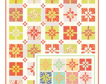 "All WrappedUp Quilt Pattern by Fig Tree & Co., approx. 61"" x 73'"