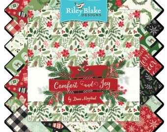 """Comfort and Joy Fat Quarter Bundle by Design by Dani for Riley Blake Designs, 24 - 18"""" x 22"""" cuts"""