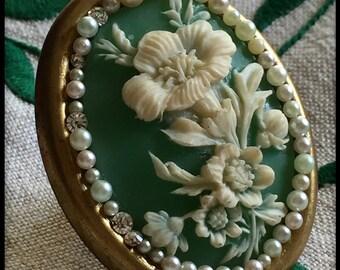 Vintage Victorian adjustable Brass  Statement Ring Handmade