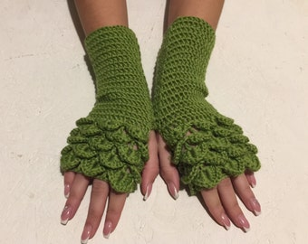 BLACK FRIDAY SALE! dragon scale  Fingerless Gloves women fingerless gloves  women's gloves dragon scale women's Arm Warmers gift Accessory