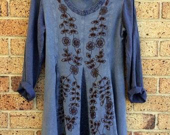 Vintage 90's Hippy Boho Festival Mini Dress 70's Inspired