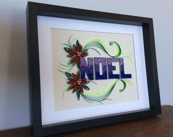 Paper quilled NOEL