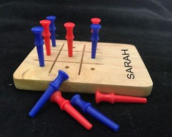 Personalized Wood Tic Tac Toe Game, Tic Tac Toe, Travel Game, Board Game, Keepsake, Gift