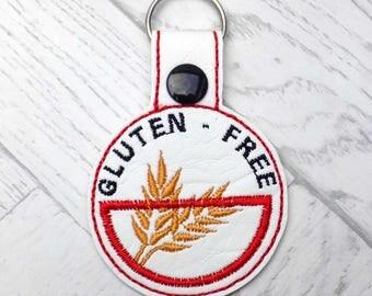 gluten free keyring, gluten free alert keyring, medic alert keychain, gluten free awareness, gluten free alert, keyring, gluten intolerance