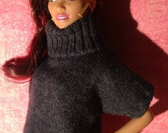 HautePoppet cowl neck sweater for  barbie/fashion dolls