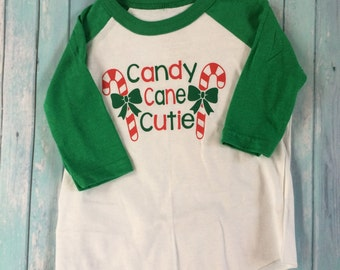 Toddler Candy Cane Cutie Shirt, Toddler Christmas Shirt