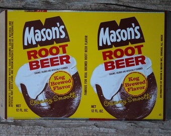Factory Unrolled Mason's Root Beer Soda Can