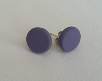 Polymer clay earrings- hot studs in lovely lavender