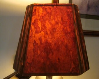 Quilted Bosse Cedar and Etimoe accent lamp shade