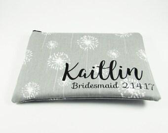 Bridesmaid Bag - Makeup Bag - Personalized Makeup Bag - Cosmetic Bag - Toiletry Bag - Wallet - Medium