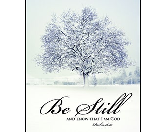 Be Still And Know That I Am God Mounted Print (15 x 12)
