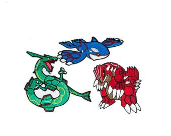 Hoenn Legendary Weather Trio - Fully Embroidered Pokémon Patch (CHOOSE ONE - Rayquaza, Groudon, Kyogre)