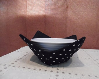 BLACK Microwave Bowl Cozy / Microwave Cozy / Bowl Cozy  / Ice Cream Cozy / Microwave Bowl  Holder
