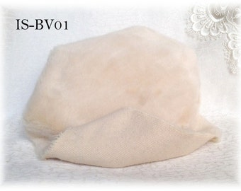 Italian SYNTHETIC fur plush fabric IS-BV01 IVORY soft dense pile 9 mm 1/8 m teddy bear making supplies