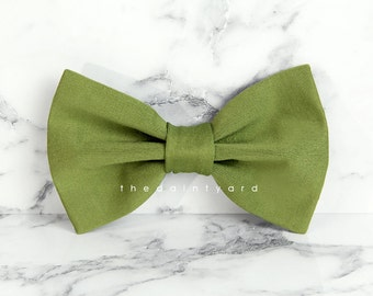 Olive Bow Tie Men Adult Groomsmen Matching Bowtie with TDY Infinity Dress