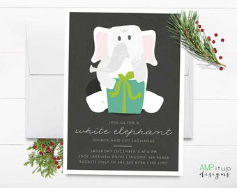 items similar to christmas party invite / holiday party invitation, Party invitations