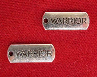 """BULK! 15pc """"warrior"""" charms in antique silver style (BC1221B)"""
