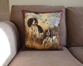 Springer Spaniel Cushion Cover Gun Dog Cushion Spaniel Cushion Home Decor Dog
