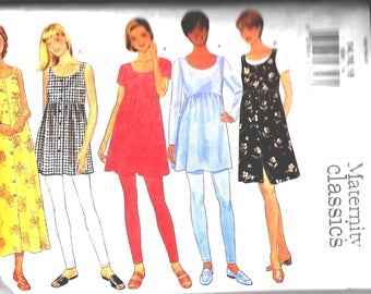 Butterick  5561    Misses Maternity Dress, Top and Leggings    Size 14,16,18   UNCUT