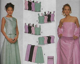 """Simplicity 9466     """"Special Occasion""""  Pattern, Wedding, Prom, Evening Dress,   Size 6-12   Uncut"""
