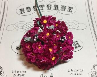Vintage Velvet millinery flower nosegay