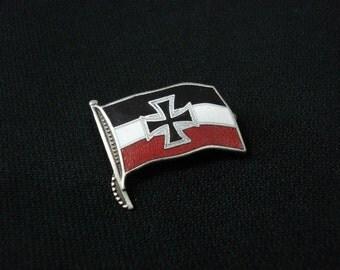 German Imperial Navy Jack Military Flag pin badge