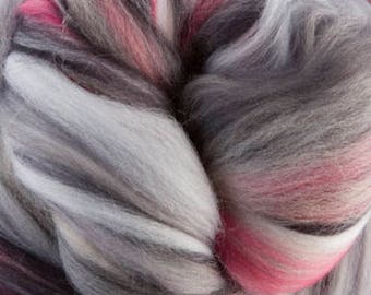 4 oz  Jazz Extra Fine Merino Wool Top (roving). - Sugar Candies Collection -  Great for Spinning and Felting