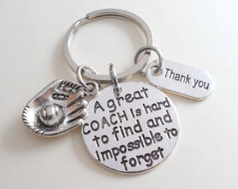 Sport Coach Keychain Gift, Coach Appreciation Gift, Baseball Coach Gift, Softball Coach Gift, Football Coach Gift, Soccer Coach Gift