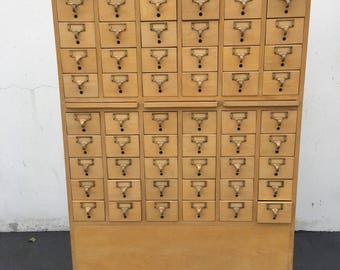 Large Vintage Card Catalog