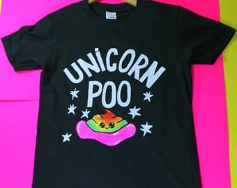 Unicorn Poo T-Shirt Different sizes and colours available
