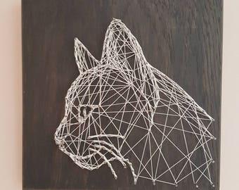 Handmade Cat string art 200mm x 200mm
