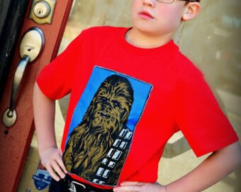 boys Star wars Chewbacca shirt 2T 3T 4T 5T 4/5 6/7 8 10/12 14/16 ready to ship