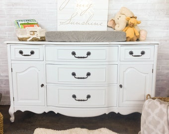 AVAILABLE: White Painted Buffet
