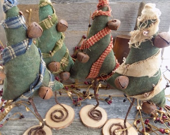 Primitive Christmas Trees  FREE SHIPPING