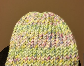 Multi-color Thick Knit Beanie