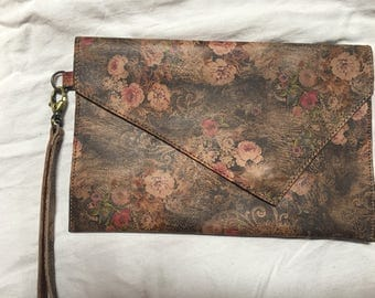 Antique Leather Clutch