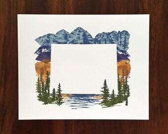 Colorado State Print - Mountains